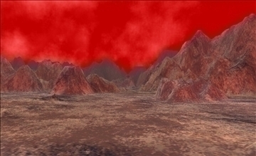 alien landscape terrain 3d model max fbx x ma mb obj 106239
