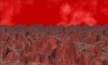 alien landscape terrain 3d model max fbx x ma mb obj 106241