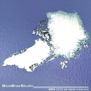 آرکٹک گرین لینڈ 3D ماڈل 3ds DXF C4D obj 102541