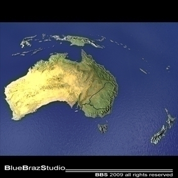 australia and new zealand 3d model 3ds dxf c4d obj 101849