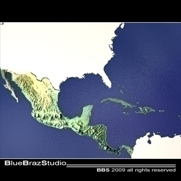 central america 3d model 3ds dxf c4d obj 101843