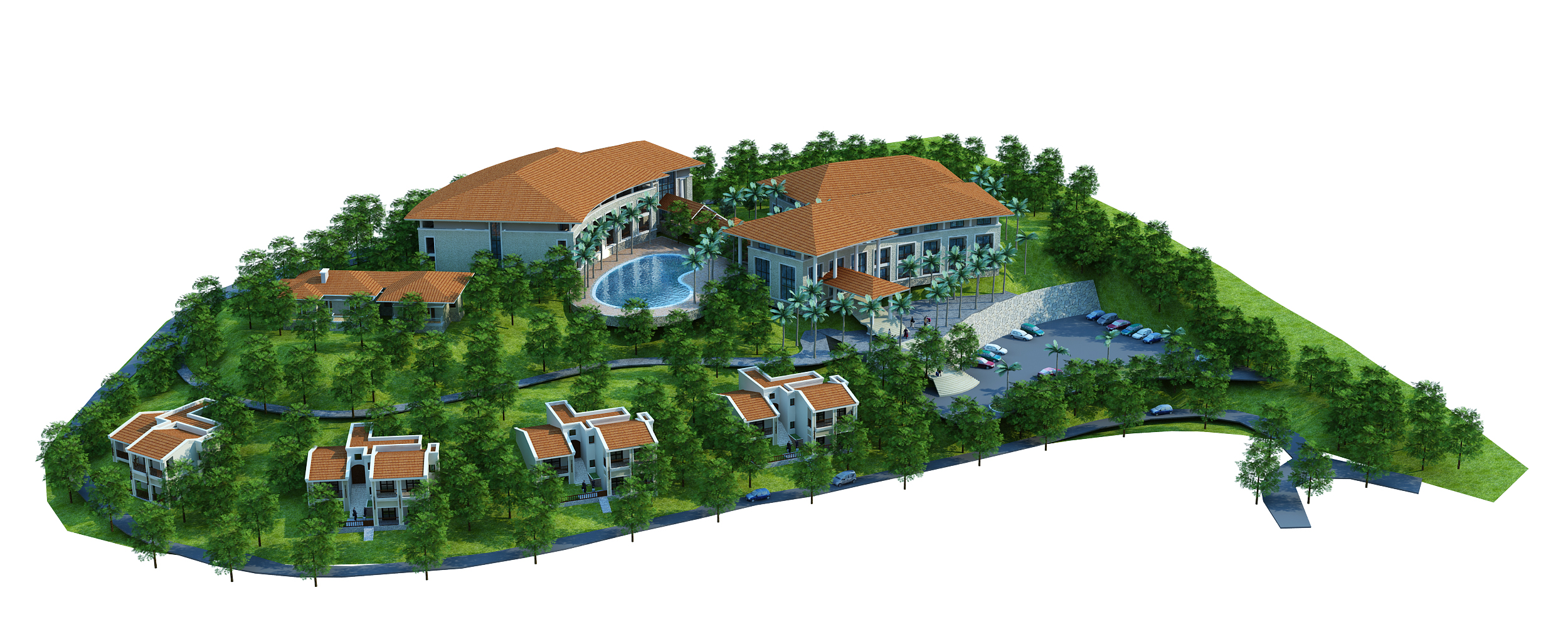 moutain resort hotel 3d model max other 159068