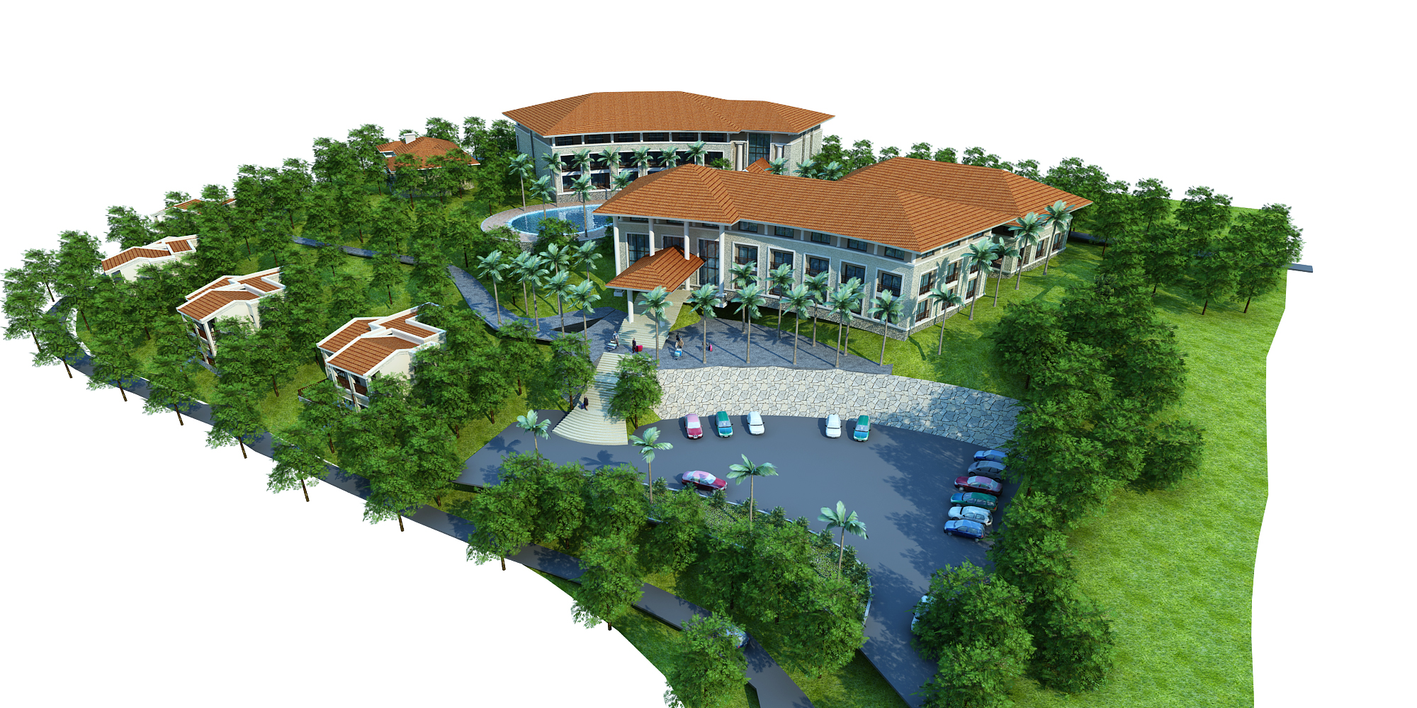 moutain resort hotel 3d model max other 159069
