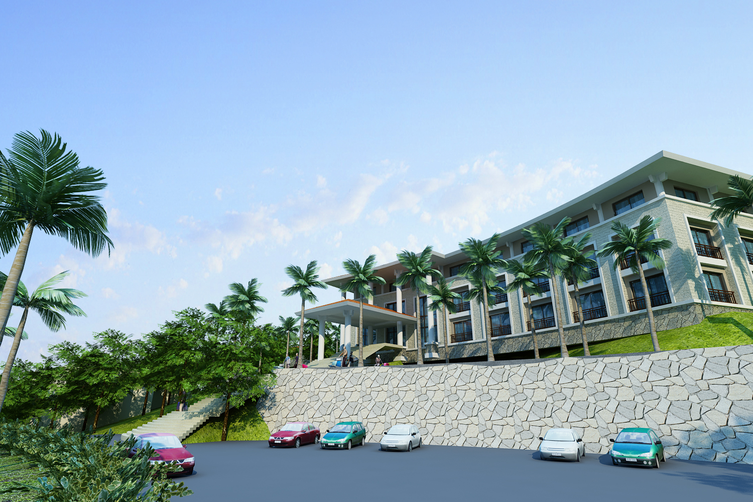 moutain resort hotel 3d model max other 159070