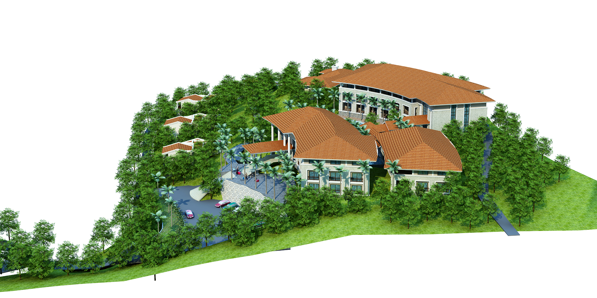 moutain resort hotel 3d model max other 159071