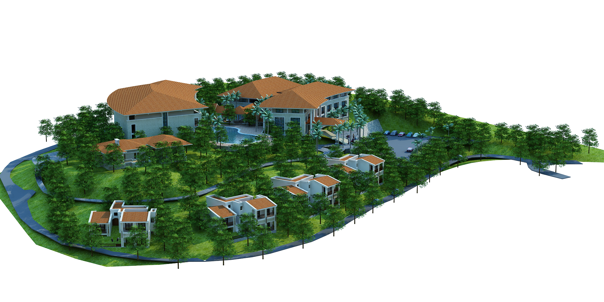 moutain resort hotel 3d model max other 159072