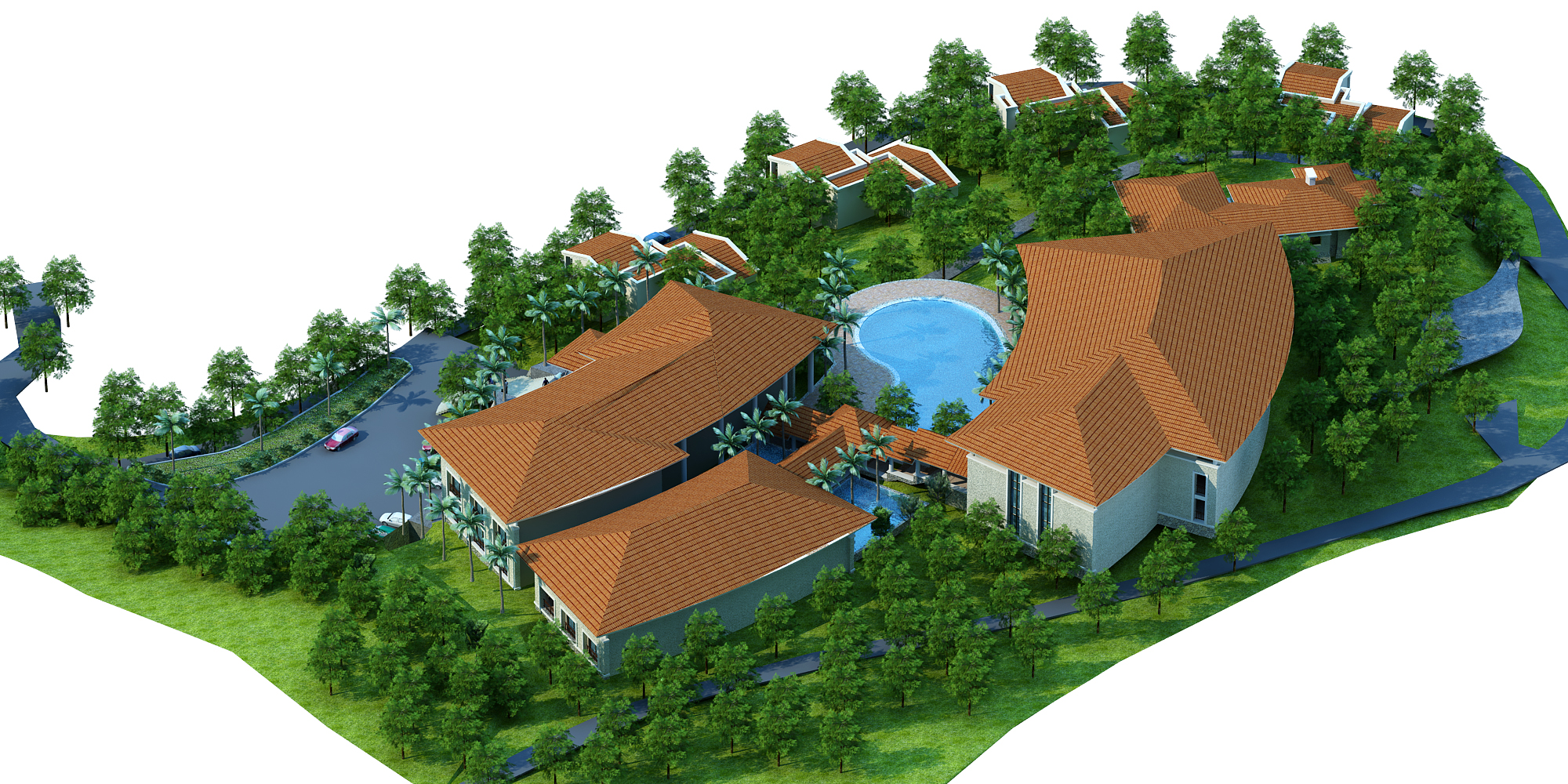 moutain resort hotel 3d model max other 159073