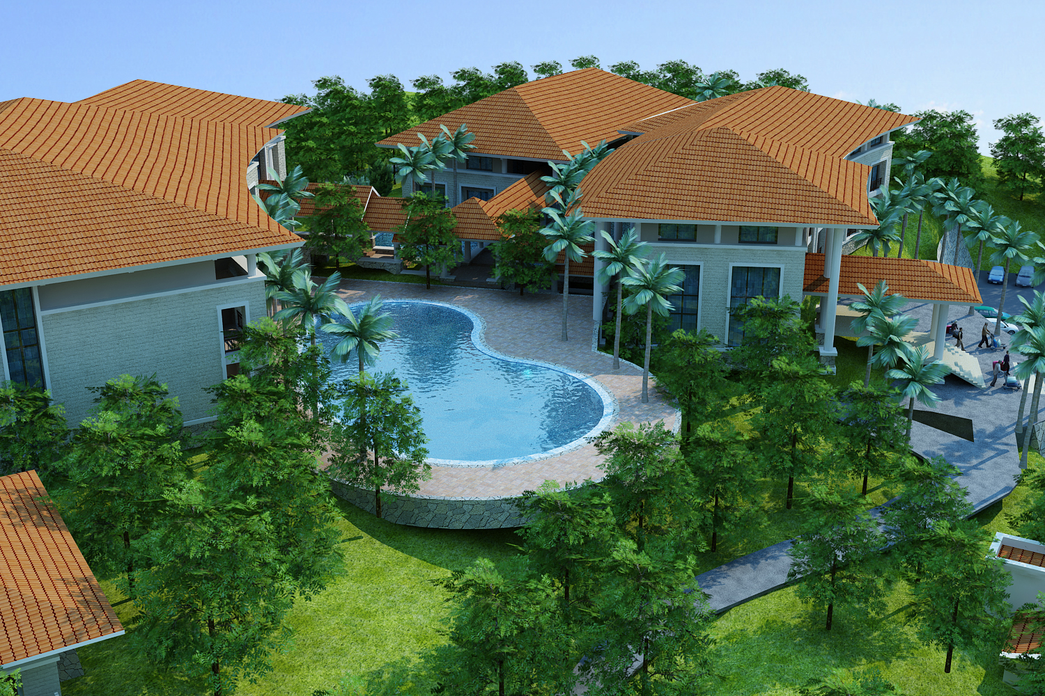 moutain resort hotel 3d model max other 159077