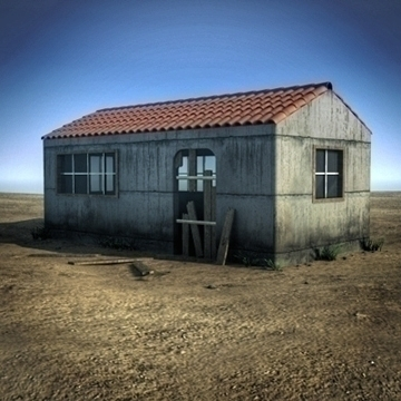 small abandoned house scene (or toolshed) 3d model max fbx ma mb obj 109790