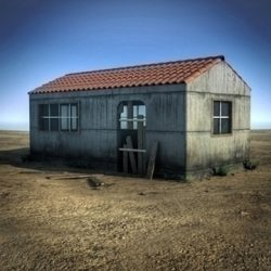 Small Abandoned House Scene (or toolshed) ( 105.66KB jpg by Escobar_Studios )