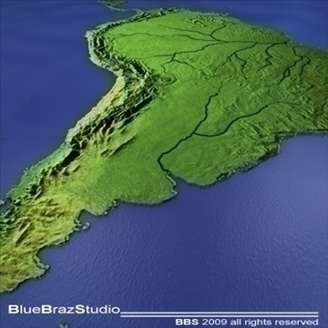 3d Map Of South America.South America