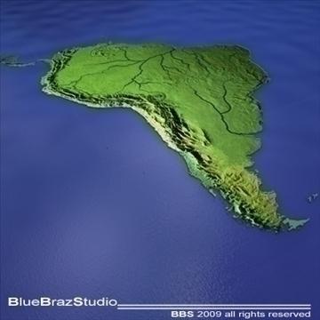 Өмнөд Америк 3d загвар 3ds dxf c4d obj 101727