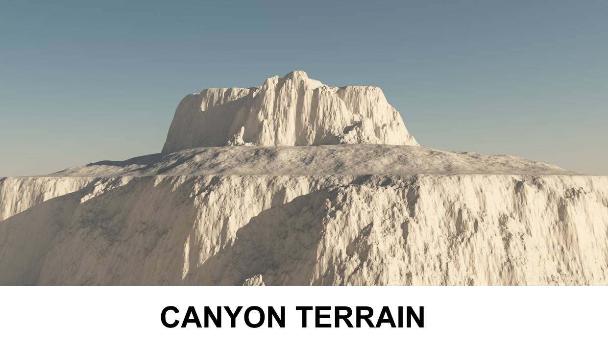 terrain canyon 3d model 3ds c4d lwo obj 118359