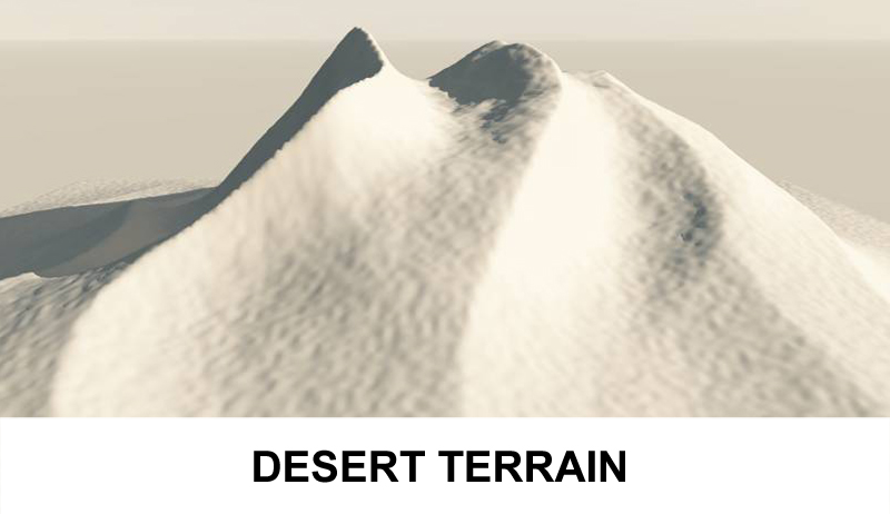 terrain desert 3d model 3ds c4d 121080