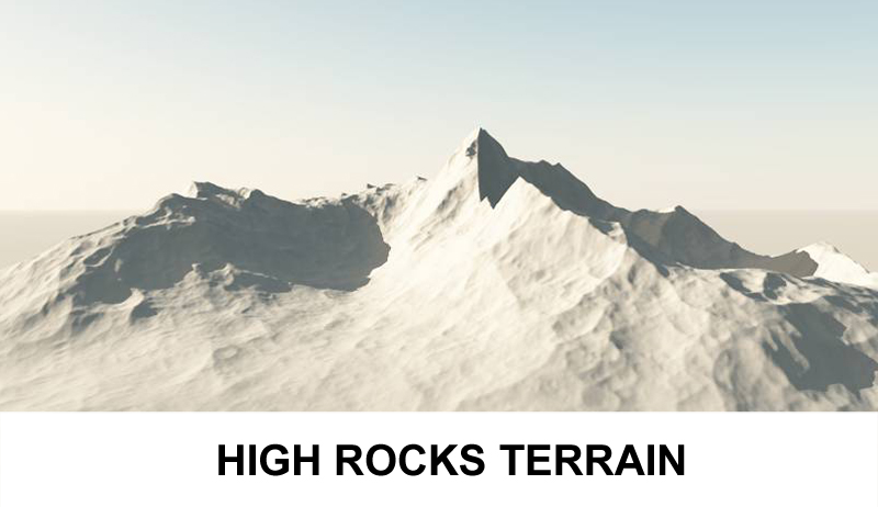 terrain high rocks 3d model 3ds c4d lwo 121159