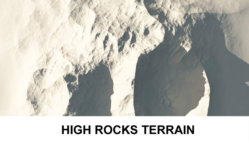 terrain high rocks 3d model 3ds c4d lwo 121160