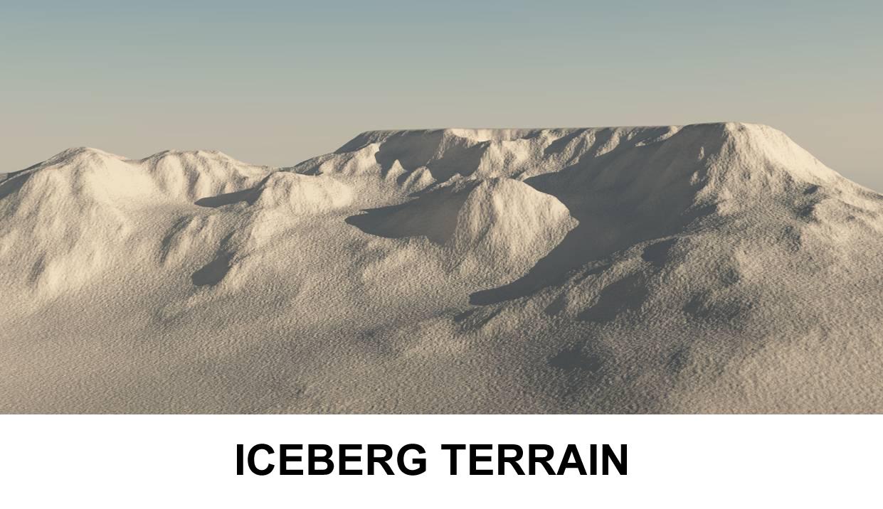 ландшафт айсберг 3d модель 3ds c4d lwo obj 118384
