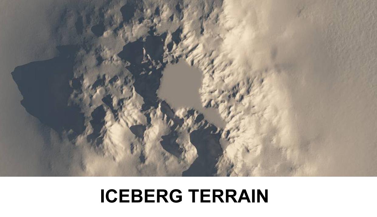 terrain iceberg 3d model 3ds c4d lwo obj 118385