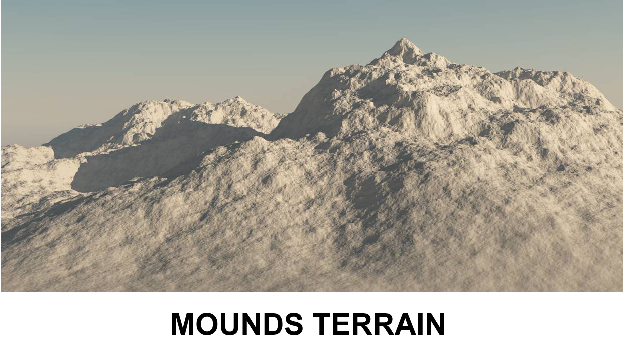 terrain mounds 3d model 3ds c4d lwo obj 118387