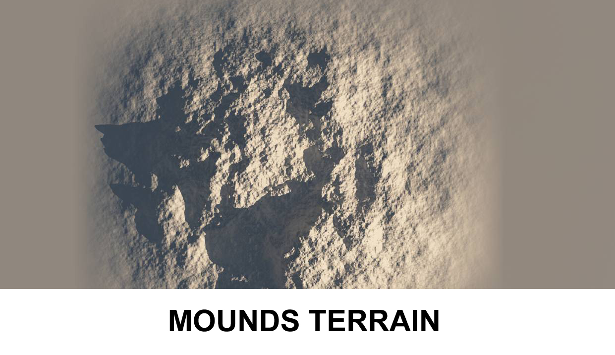 terrain mounds 3d model 3ds c4d lwo obj 118388