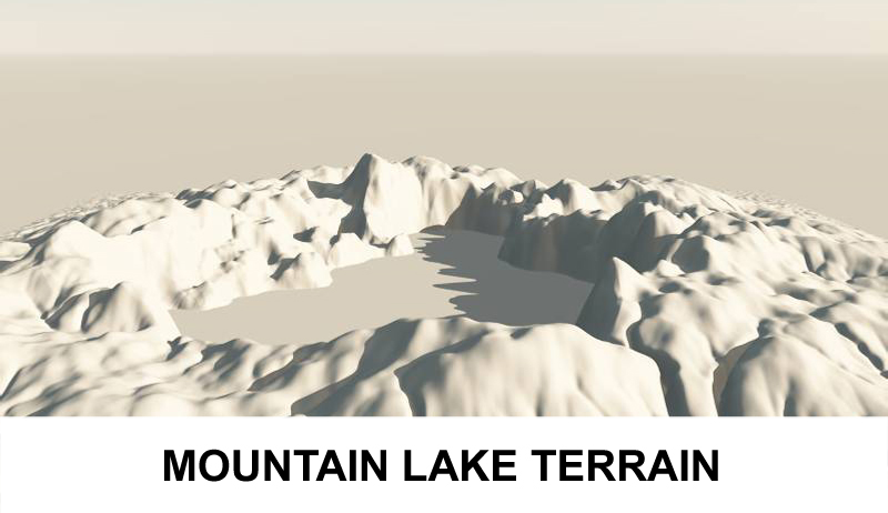 terrain mountain lake 3d model 3ds c4d lwo obj 121165