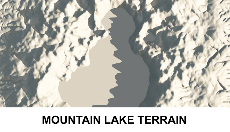 terrain mountain lake 3d model 3ds c4d lwo obj 121166