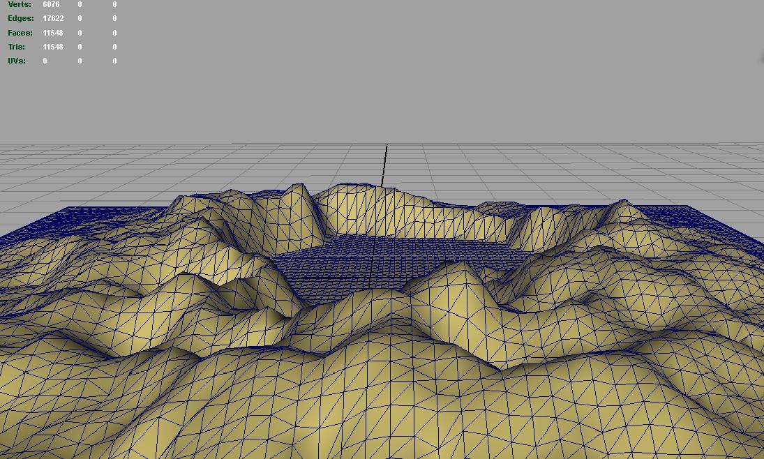 terrain mountain lake 3d model 3ds c4d lwo obj 121167