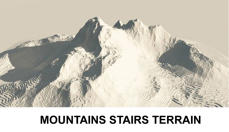 terrain mountains with stairs 3d model 3ds c4d lwo obj 121240
