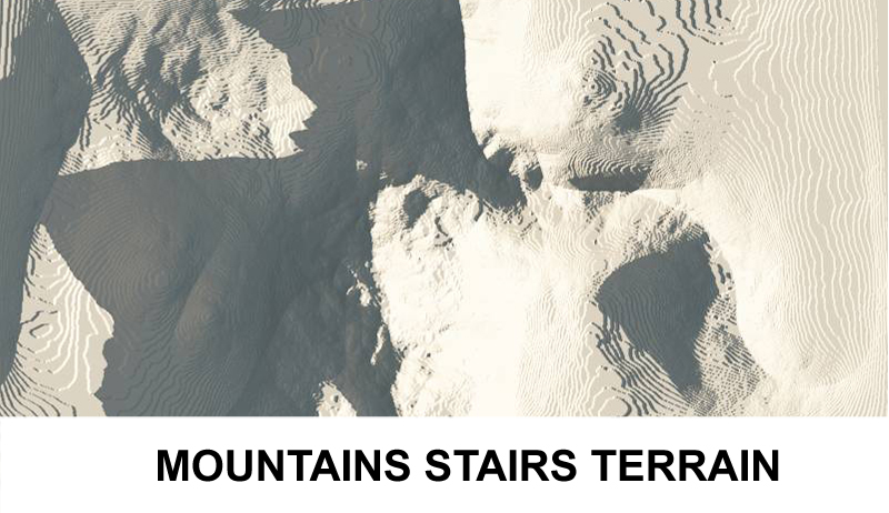 terrain mountains with stairs 3d model 3ds c4d lwo obj 121241