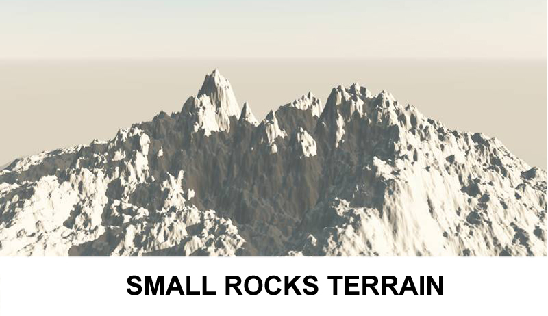 terrain small rocks 3d model 3ds c4d lwo obj 121308