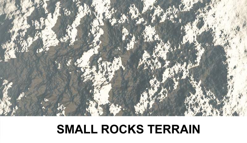 terrain small rocks 3d model 3ds c4d lwo obj 121309