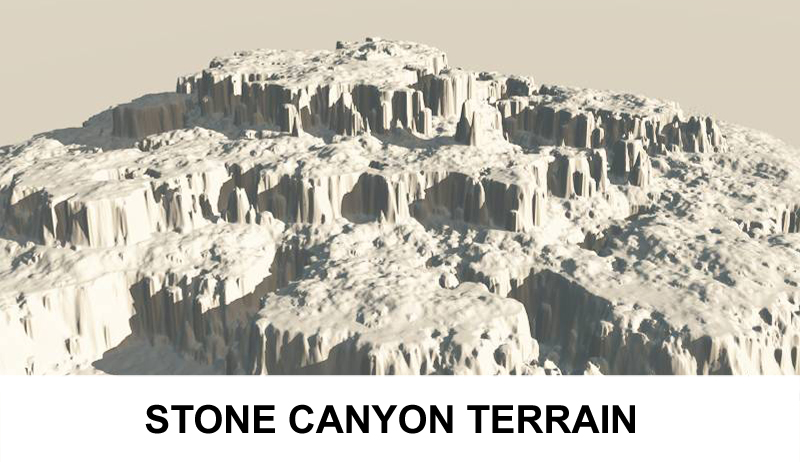 terrain stone canyon 3d model 3ds c4d lwo obj 121423