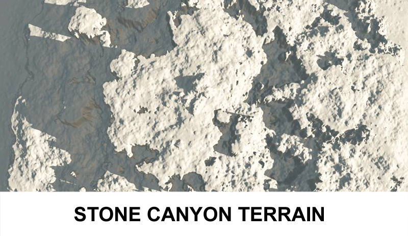 terrain stone canyon 3d model 3ds c4d lwo obj 121424