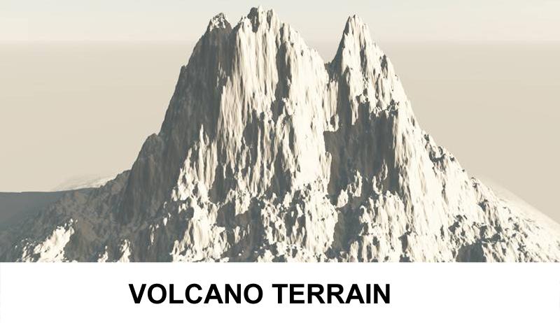 vietovės vulkanas 3d modelis 3ds c4d lwo obj 121570