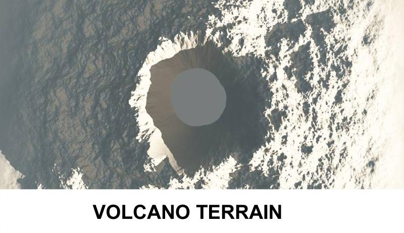 terrain volcano 3d model 3ds c4d lwo obj 121571