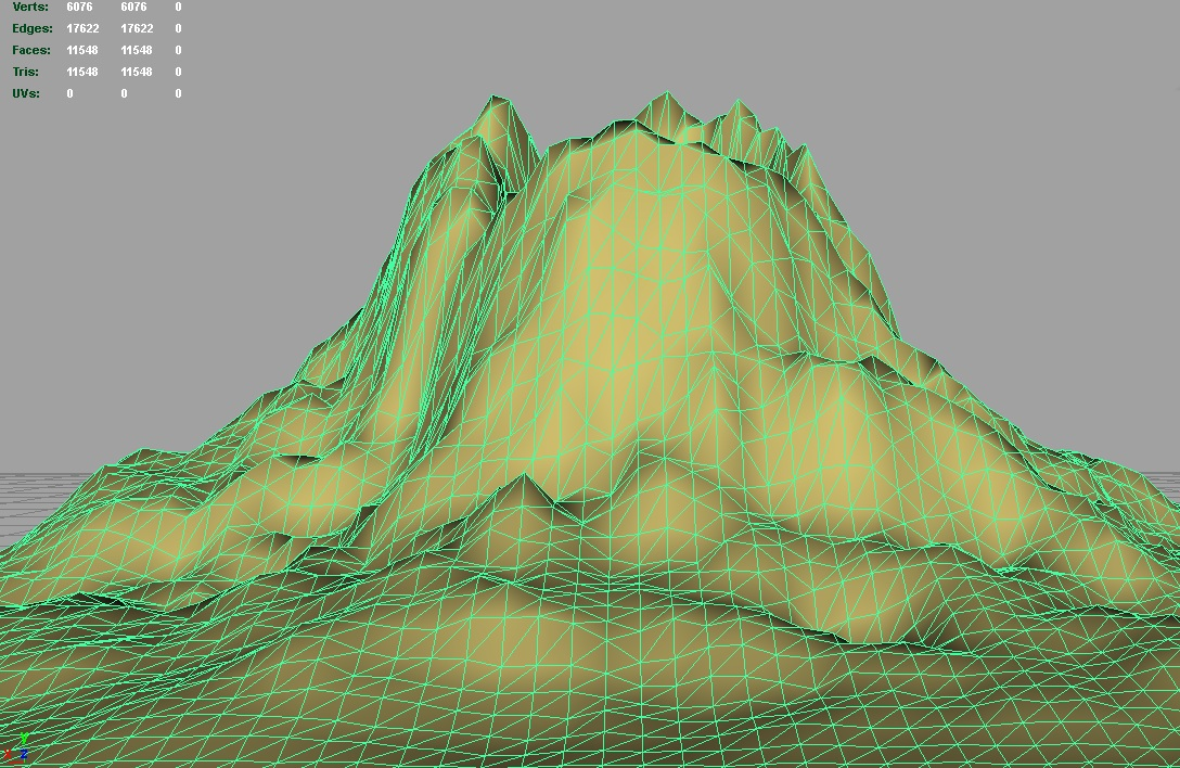 terrain volcano 3d model 3ds c4d lwo obj 121572