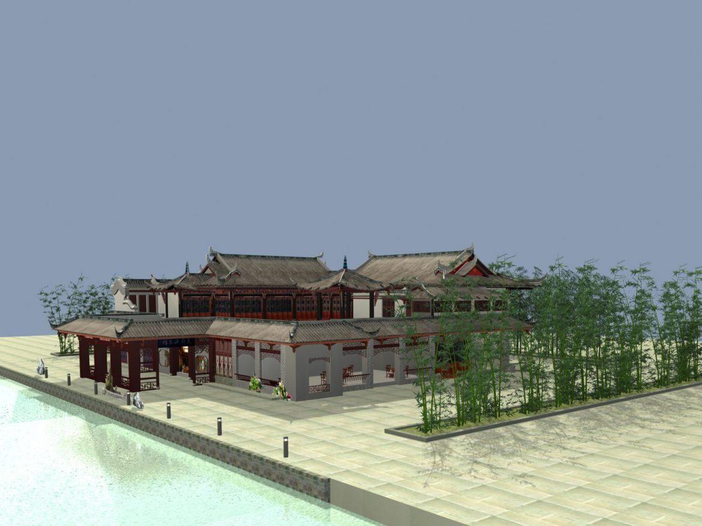 the fulongguan temple 3d model 3ds max 127913