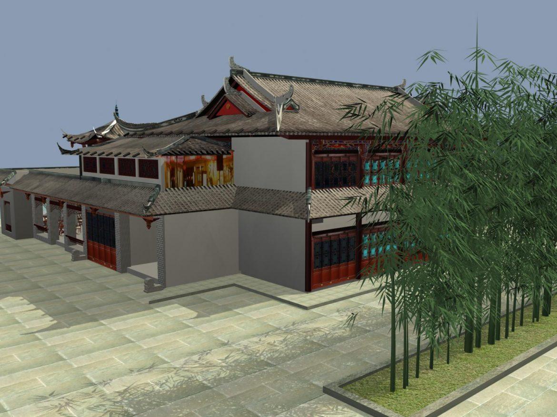 the fulongguan temple 3d model 3ds max 127914