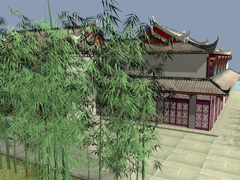 the fulongguan temple 3d model 3ds max 127915