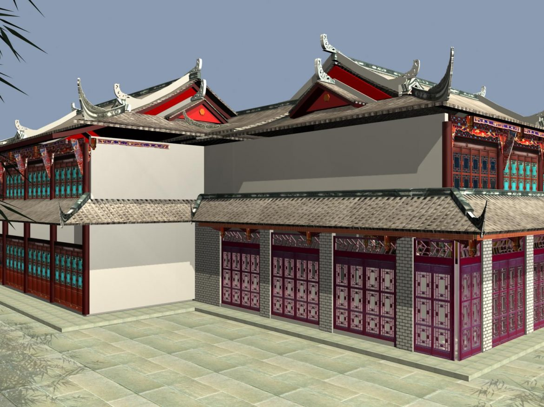 the fulongguan temple 3d model 3ds max 127916