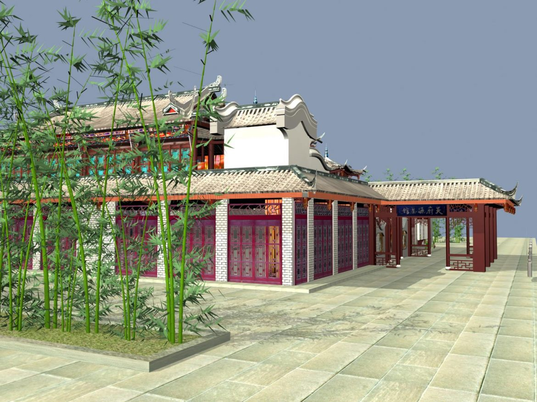 the fulongguan temple 3d model 3ds max 127917