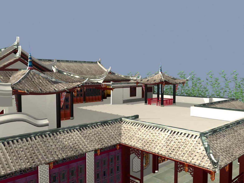 the fulongguan temple 3d model 3ds max 127918