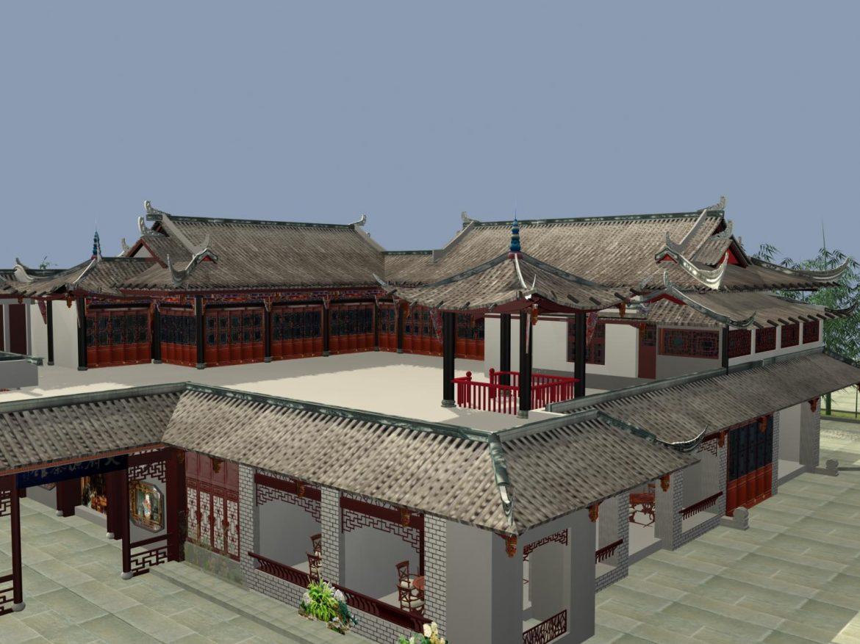 the fulongguan temple 3d model 3ds max 127919