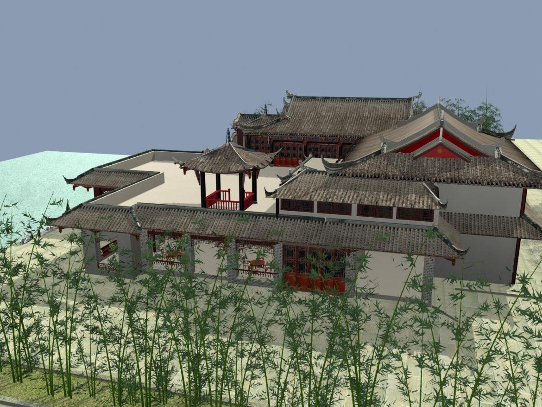 the fulongguan temple 3d model 3ds max 127920