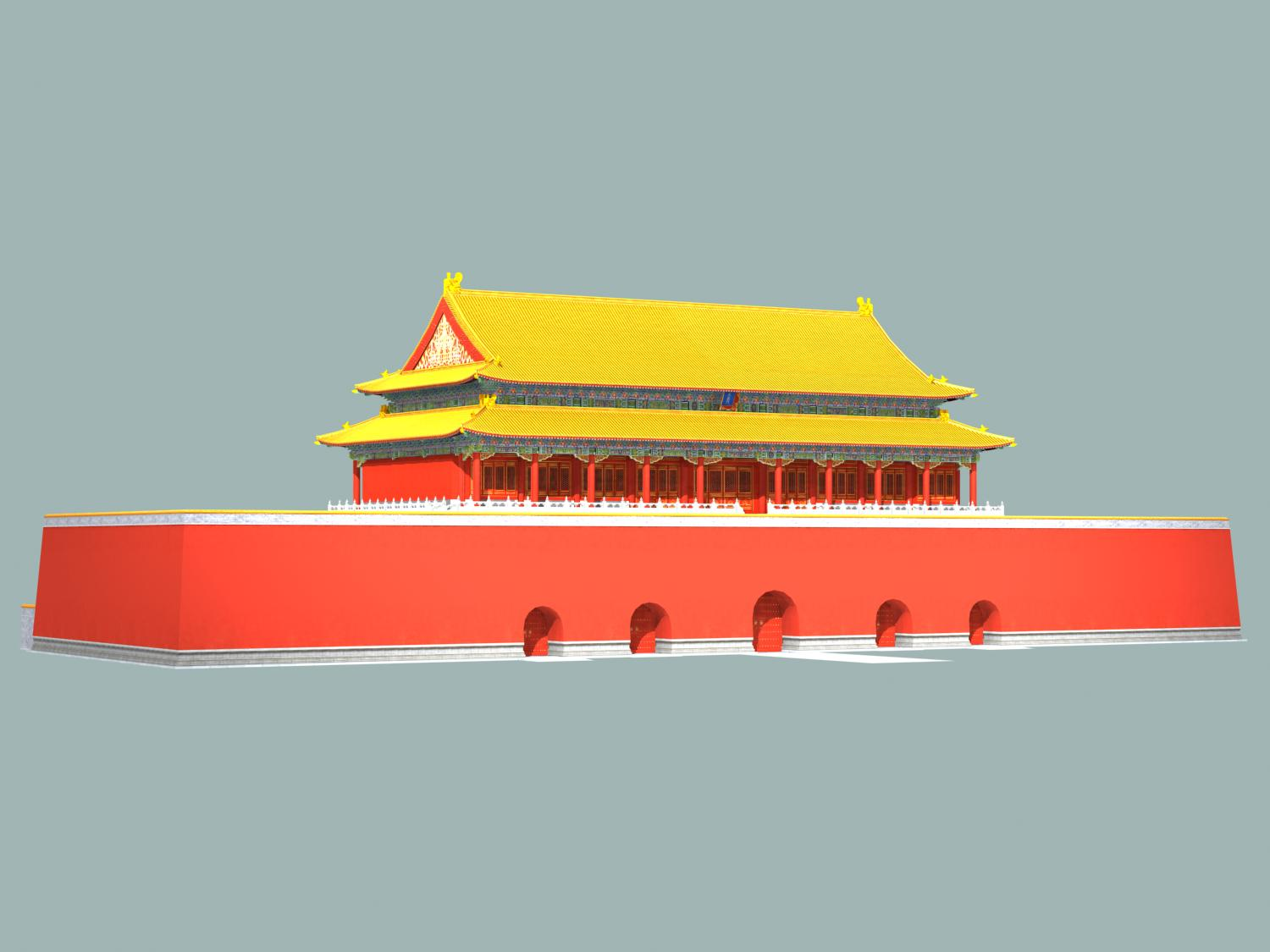 the tiananmen gate 3d model 3ds max 127922