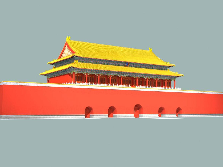 the tiananmen gate 3d model 3ds max 127923