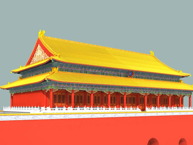 the tiananmen gate 3d model 3ds max 127924
