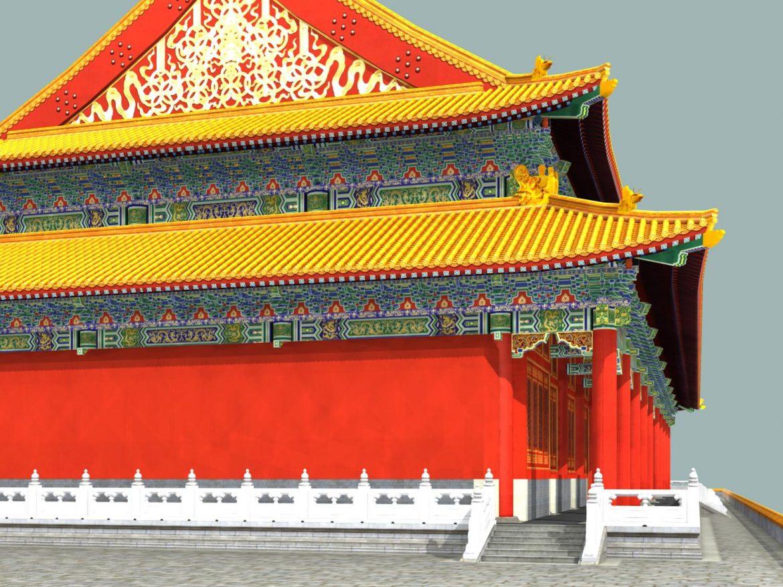 the tiananmen gate 3d model 3ds max 127925