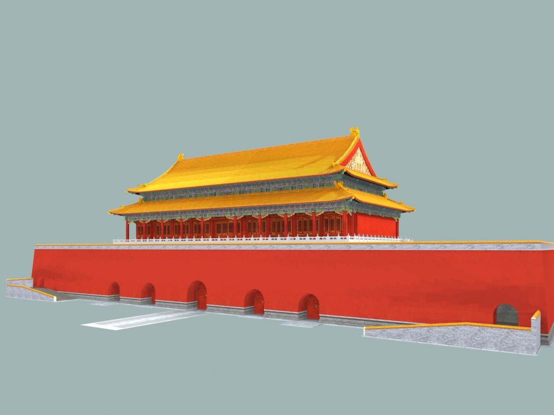 the tiananmen gate 3d model 3ds max 127926