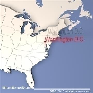 washington d.c. 3d model 3ds dxf c4d obj 102594